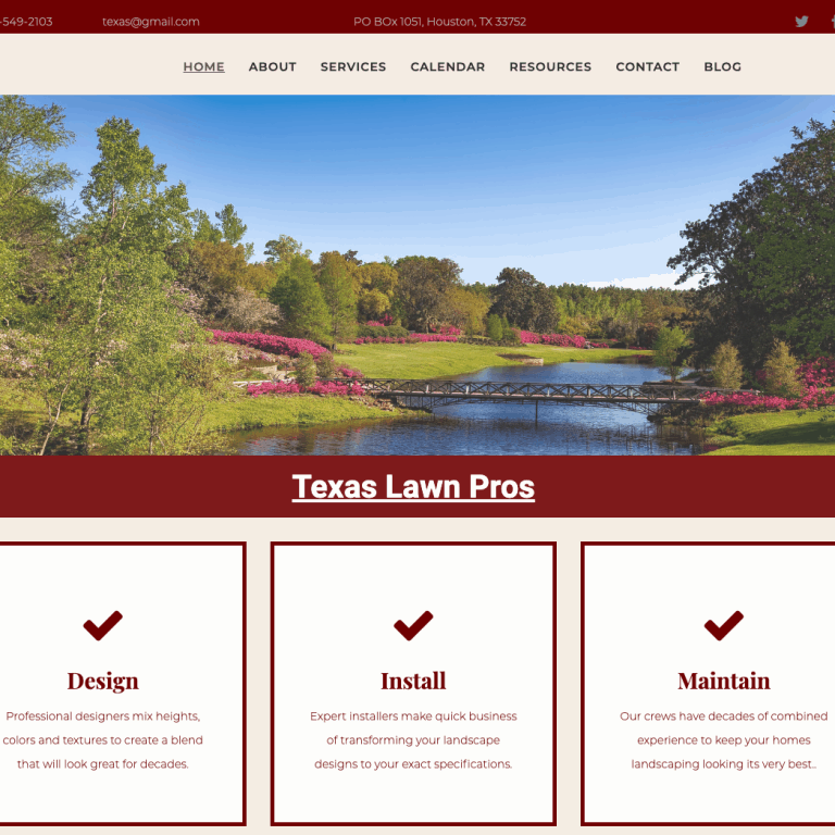 TEXAS LAWN CARE  WEBSITE DESIGN