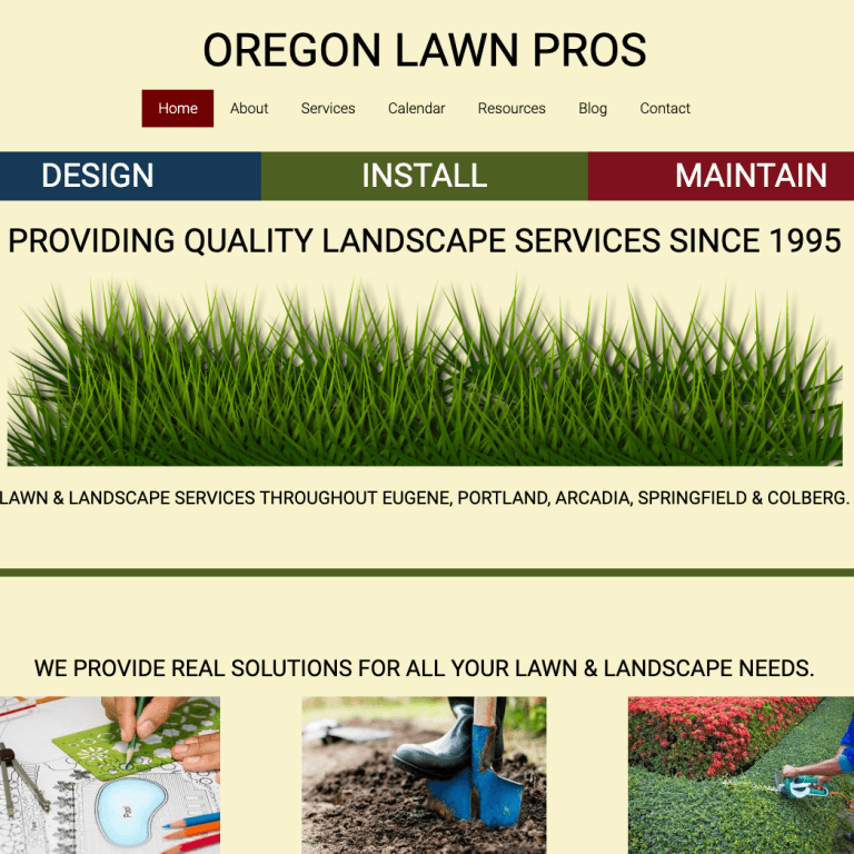 OREGON LAWN CARE WEBSITE DESIGN