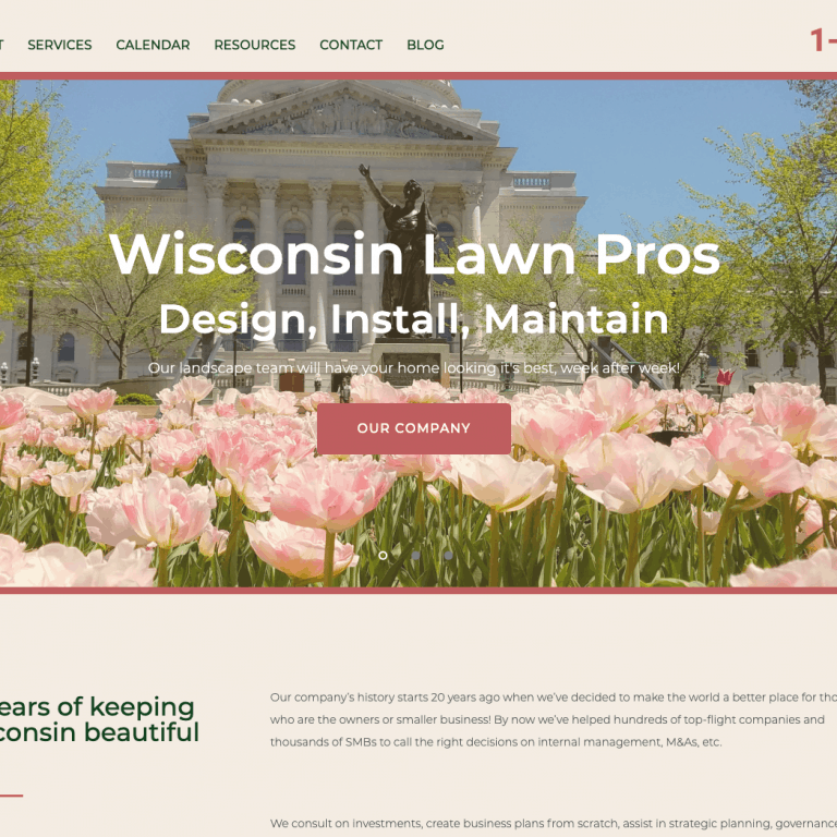 WISCONSIN LAWN CARE WEBSITE DESIGN