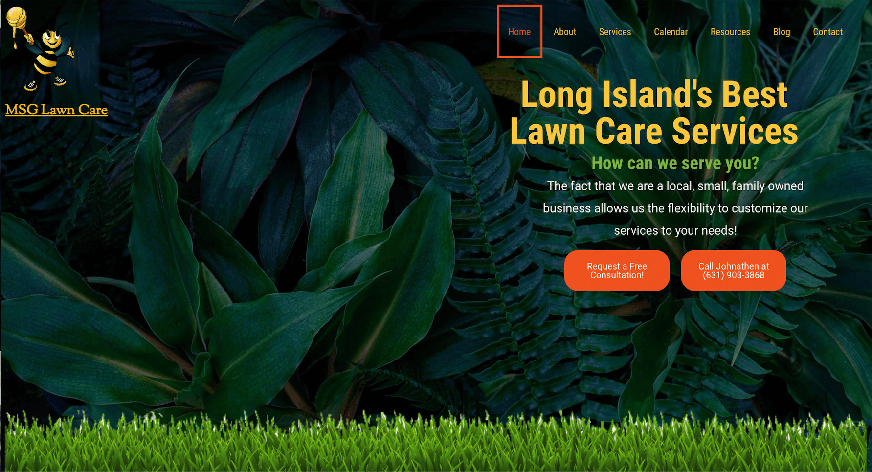 lawn care website builder 5