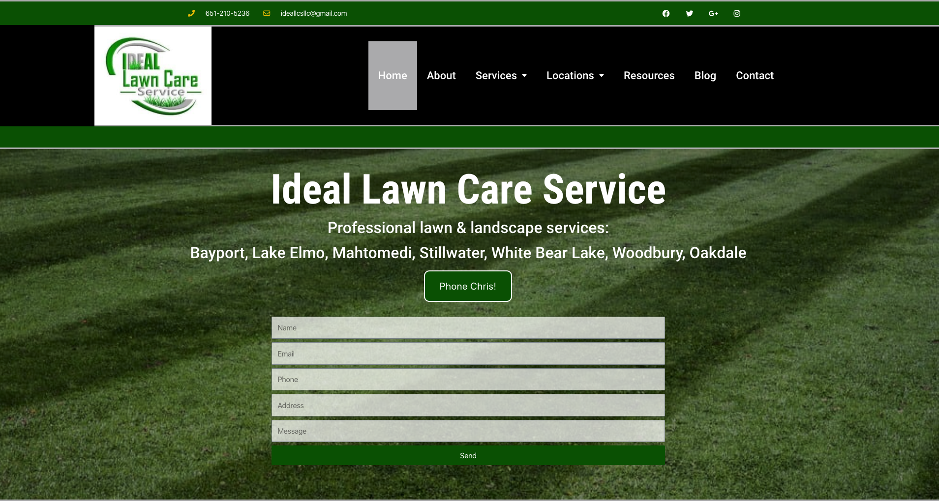 lawn care websites